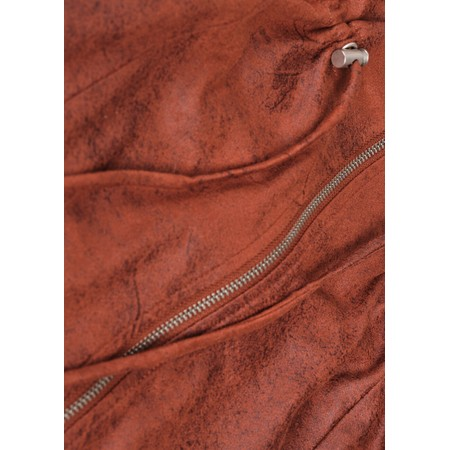 Sandwich Clothing Woven Faux Suede Zip Through Dress  - Orange