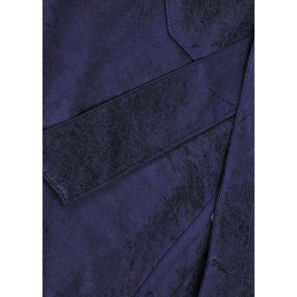 Sandwich Clothing Woven Faux Suede Zip Through Dress  Night Sky
