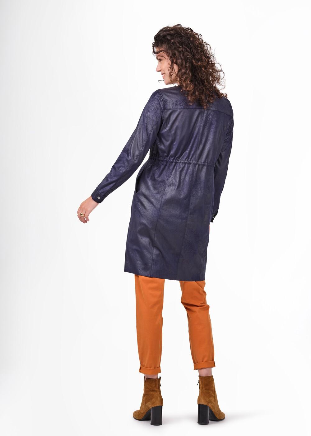Woven Faux Suede Zip Through Dress  main image