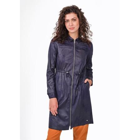 Sandwich Clothing Woven Faux Suede Zip Through Dress  - Blue