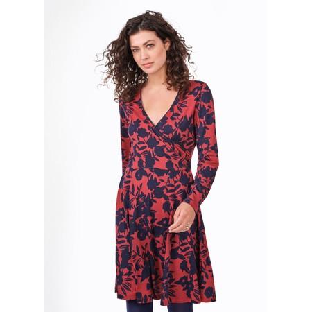 Sandwich Clothing Floral Cross Over Jersey Dress - Orange