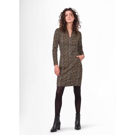 Sandwich Clothing Zebra Print Fitted Dress  - Black