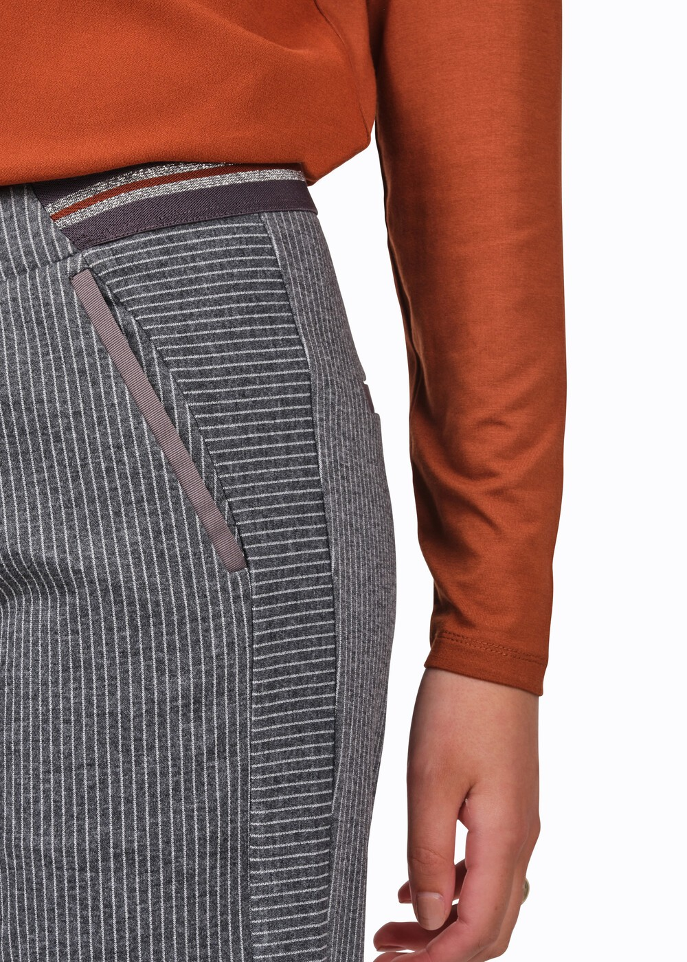 Pinstriped Jersey Trouser main image
