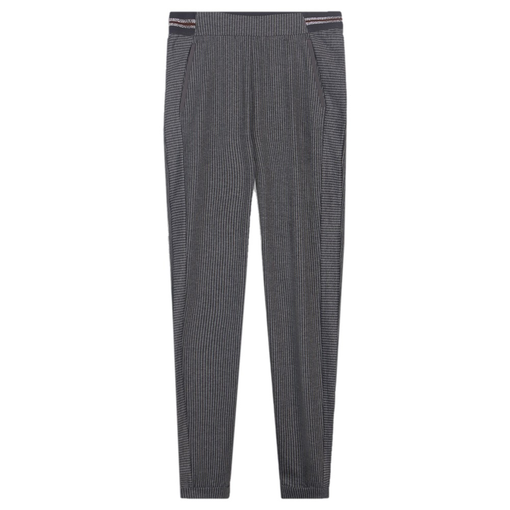 Sandwich Clothing Pinstriped Jersey Trouser Almost Black