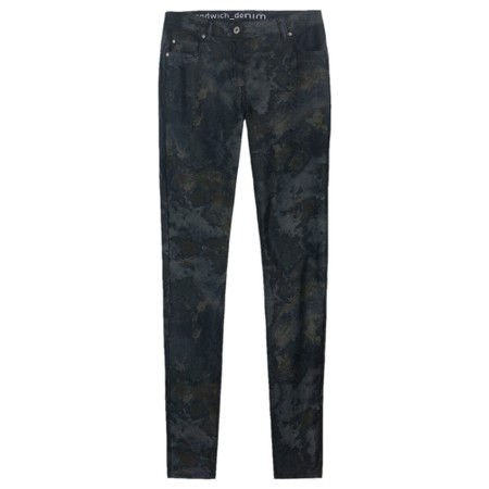 Sandwich Clothing Printed Skinny Jeans  - Green