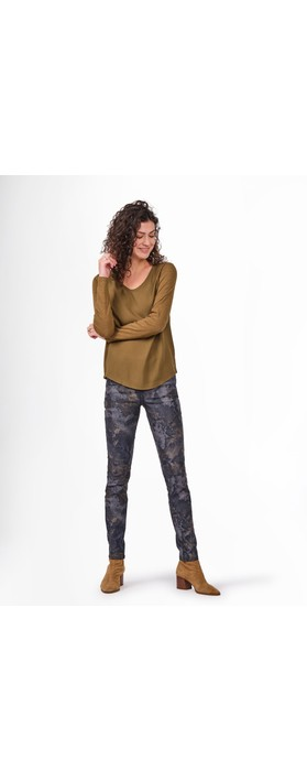 Sandwich Clothing Printed Skinny Jeans  Military Olive