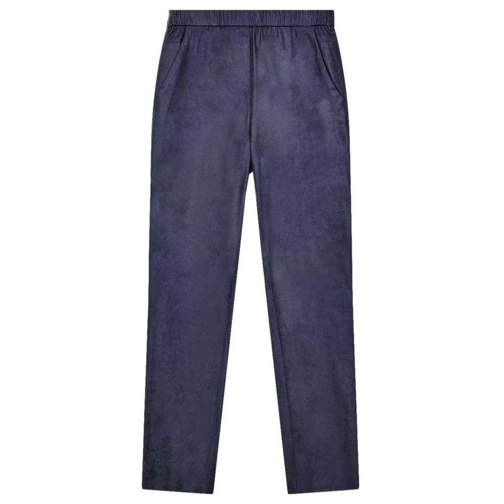 Sandwich Clothing Faux Suede Pull On Trouser  Night Sky