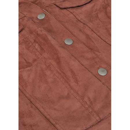 Sandwich Clothing Cropped Faux Suede Jacket  - Brown