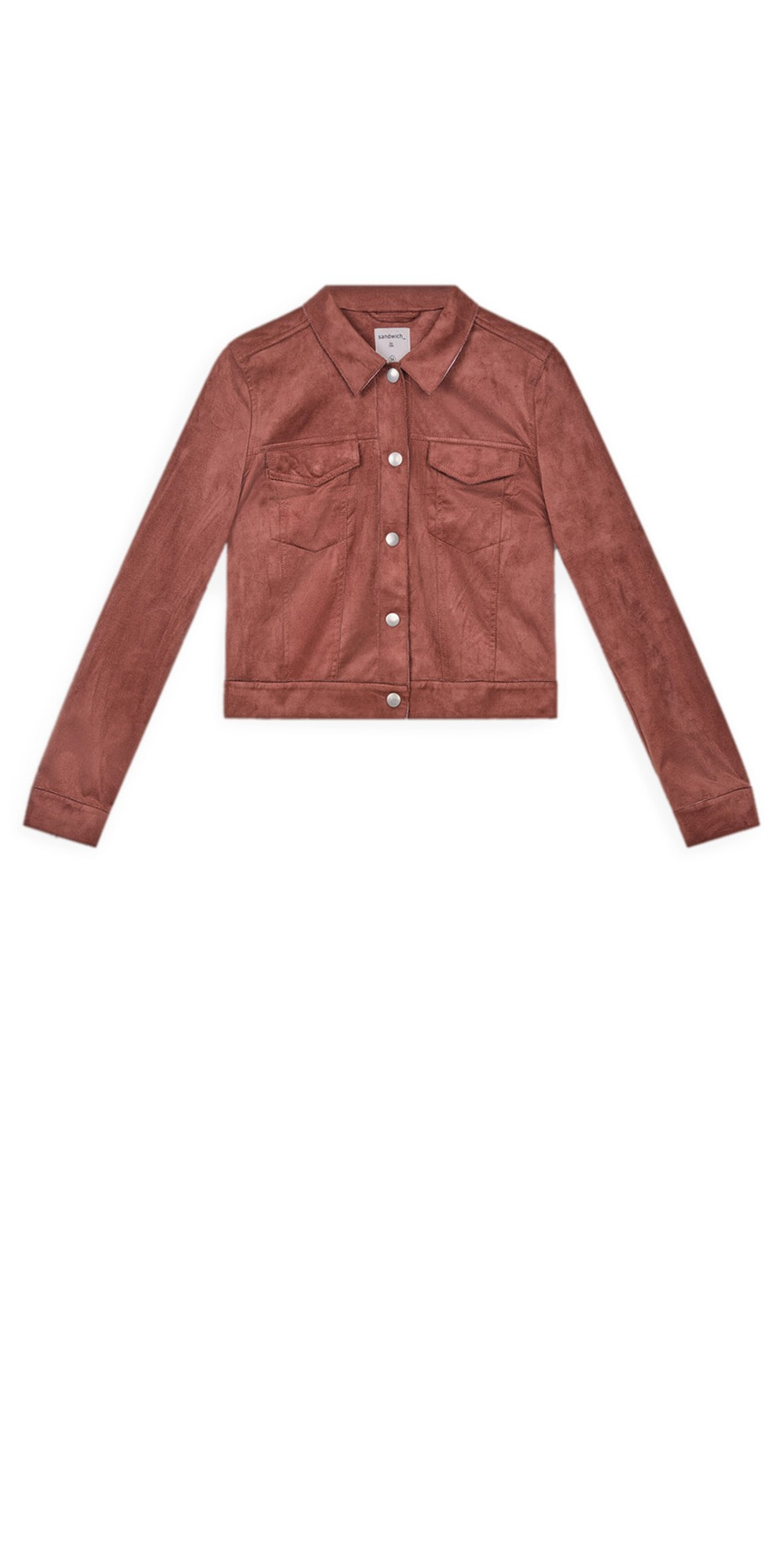 Cropped Faux Suede Jacket  main image