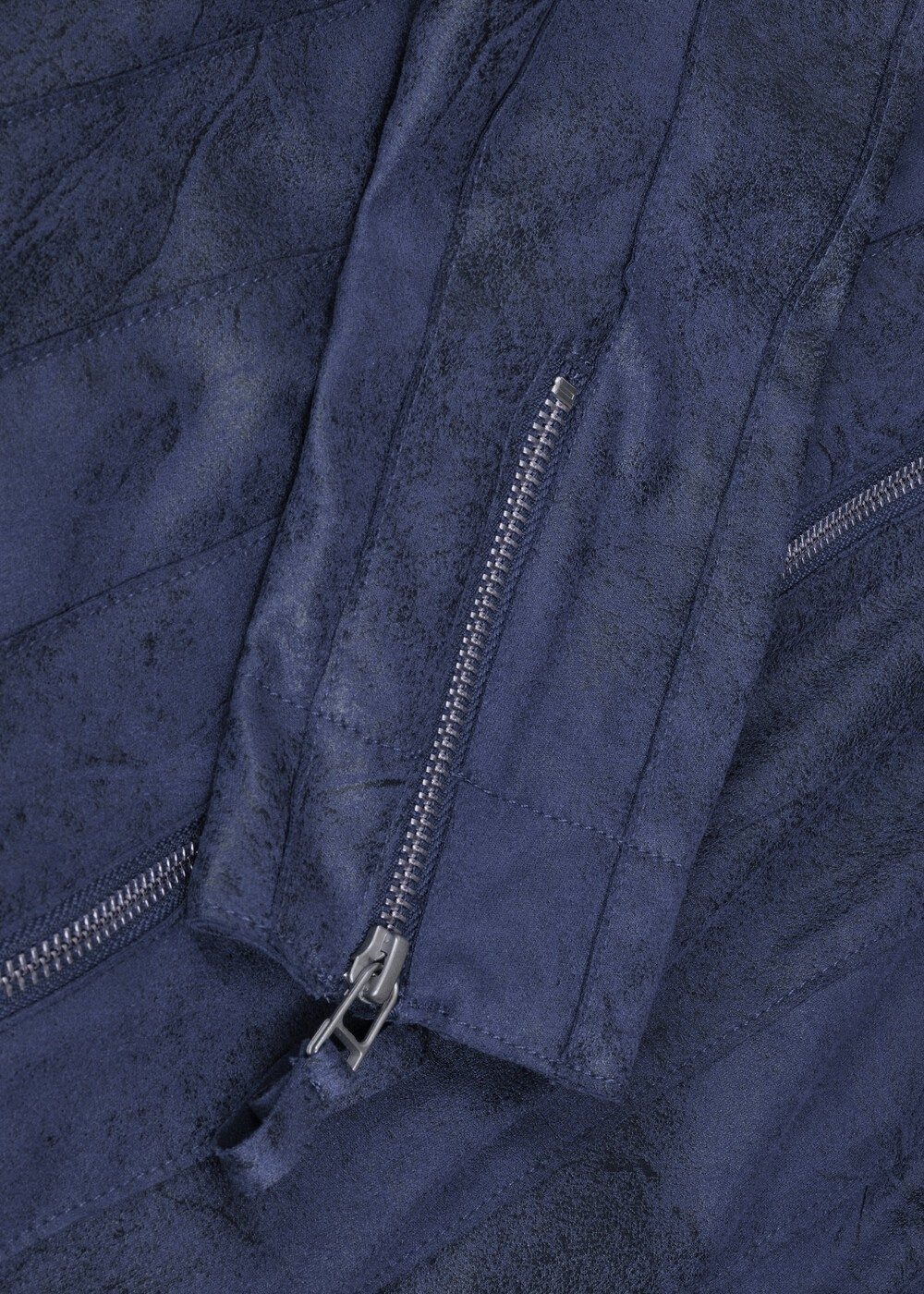 Slim Fitting Faux Suede Jacket  main image