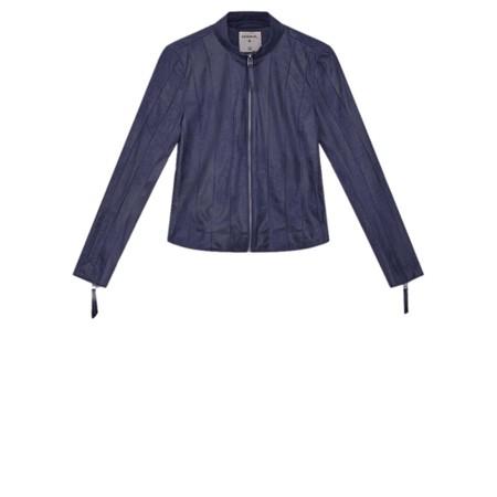 Sandwich Clothing Slim Fitting Faux Suede Jacket  - Blue