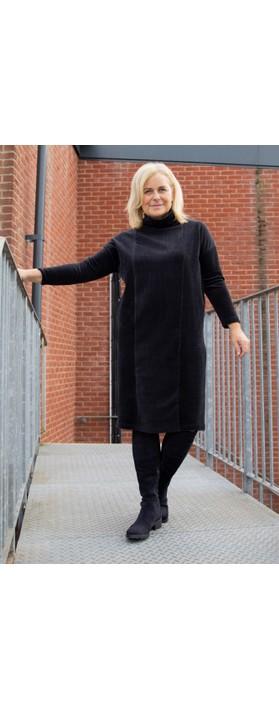 Sahara Velvet Rib Boxy Dress Black