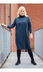 Sahara Deep Teal Velvet Rib Boxy Dress