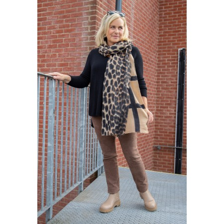 RINO AND PELLE Hind Leopard Check Scarf  - Multicoloured