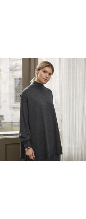 Masai Clothing Fralla Top Dark Grey Mel