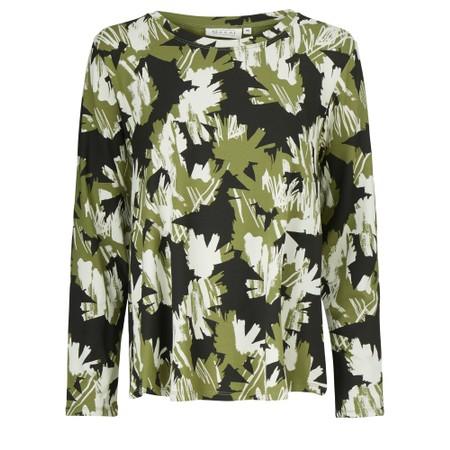 Masai Clothing Abstract Floral Badisna Top - Green
