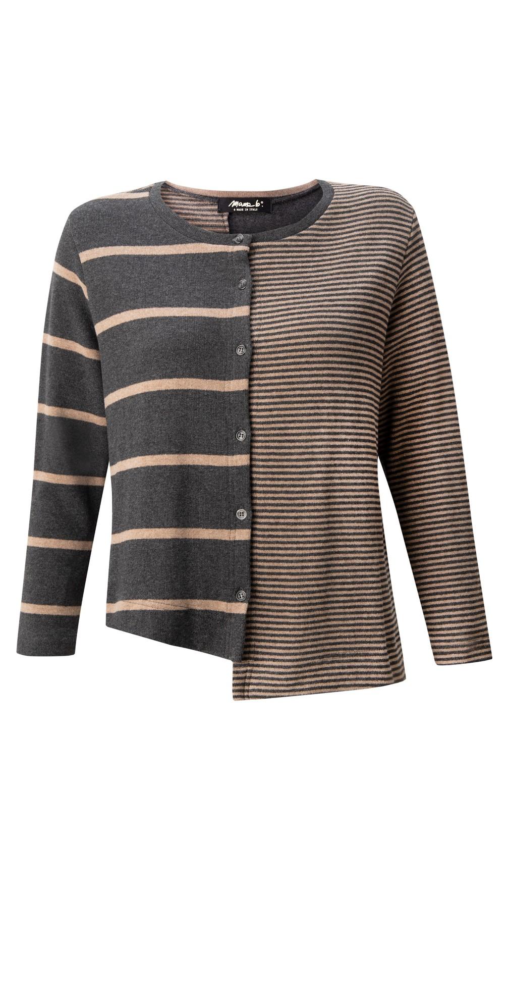Inglese Tbiri Stripe Fleece Cardigan main image