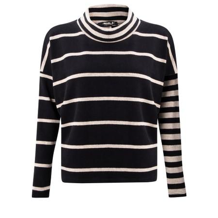 Mama B Monte Tbiri Stripe Fleece Jumper - Black