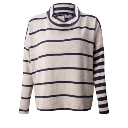 Mama B Monte Tbiri Stripe Fleece Jumper - Blue