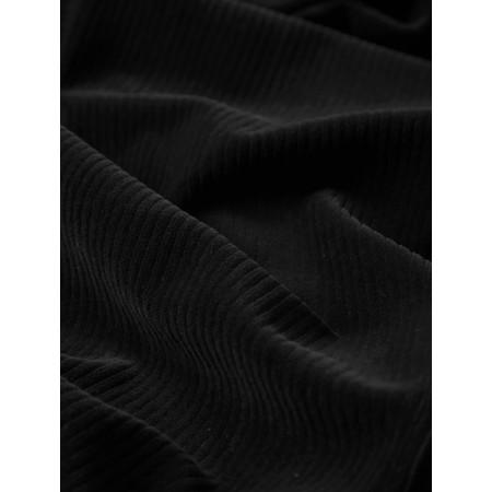 Sahara Velvet Rib Boxy Dress - Black