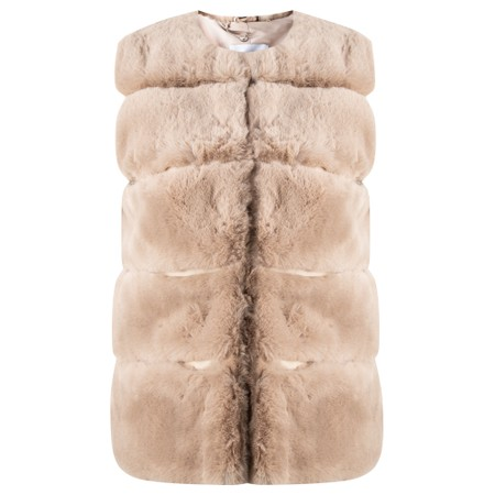 RINO AND PELLE Janay Faux Fur Gilet - Silver