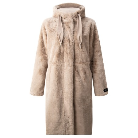 RINO AND PELLE Candle Faux Fur Coat - Silver