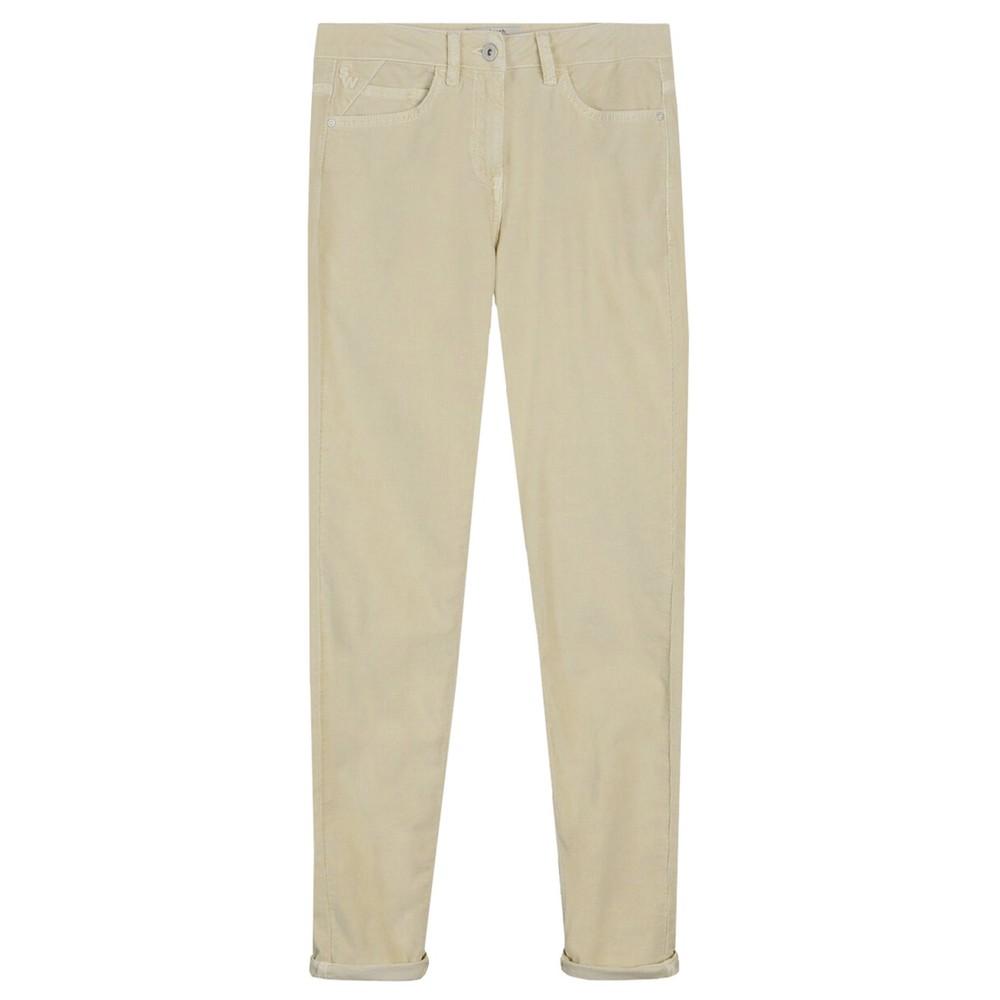 Sandwich Clothing Slim Fit Cord Trouser  Almond White