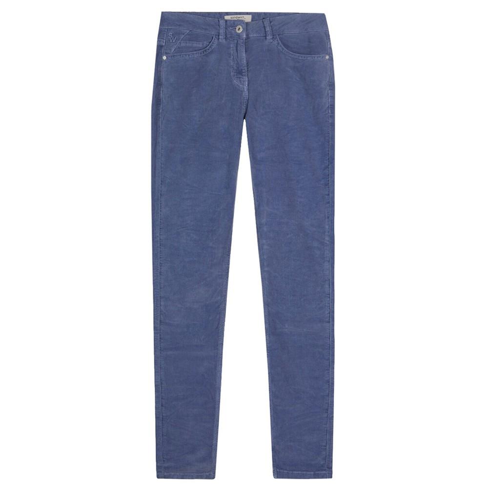 Sandwich Clothing Slim Fit Cord Trouser  Evening Blue