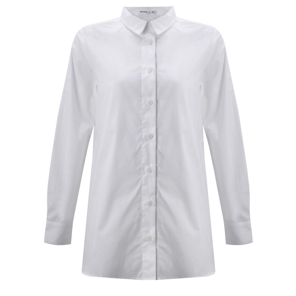 Mes Soeurs et Moi Echasse Cotton Poplin Shirt White