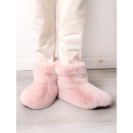 Helen Moore Faux Fur Slipper Boot - Pink