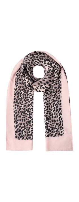 Gemini Label Accessories Dalian Leopard Print Scarf Pink