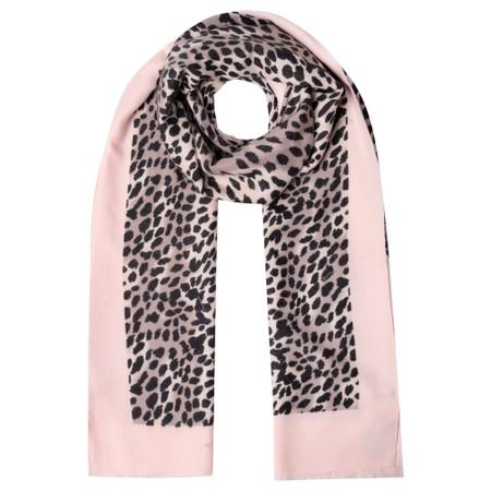 Gemini Label Accessories Dalian Leopard Print Scarf - Pink