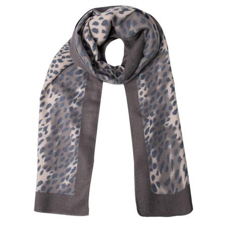 Gemini Label Accessories Dalian Leopard Print Scarf - Black
