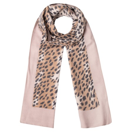 Gemini Label Accessories Dalian Leopard Print Scarf - Off-White
