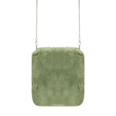 RINO AND PELLE Doxy Cross Body Faux Fur Bag - Green
