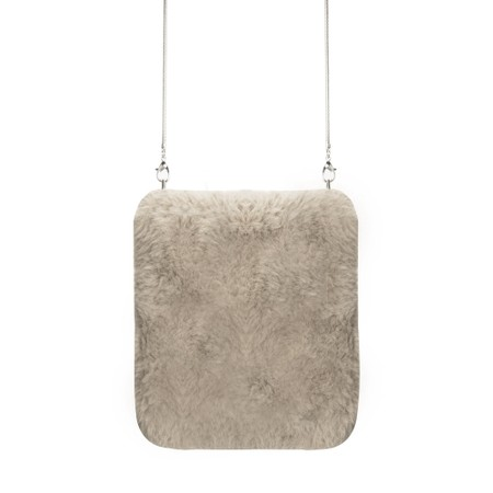 RINO AND PELLE Doxy Cross Body Faux Fur Bag - Silver