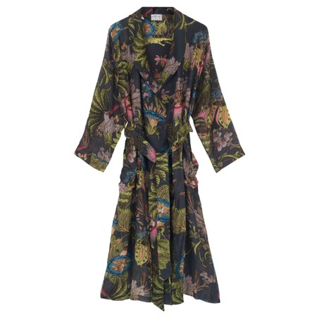 One Hundred Stars Eccentric Blooms Charcoal Gown - Black