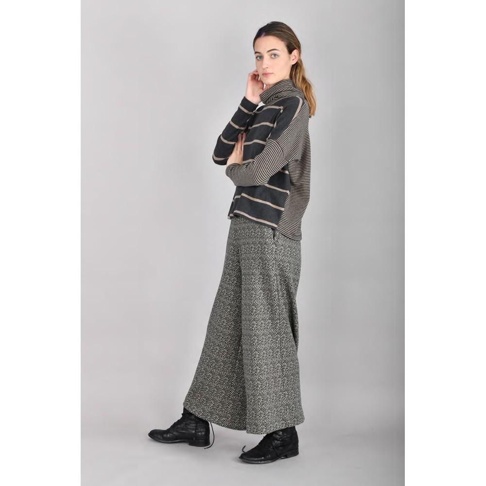 Mama B Monte Tbiri Stripe Fleece Jumper Nocciola / Anthra