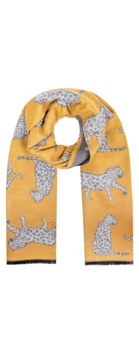 Gemini Label Accessories Atara Leopard Scarf Mustard