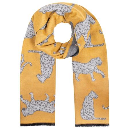 Gemini Label Accessories Atara Leopard Scarf - Yellow