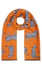 Gemini Label Accessories Orange Atara Leopard Scarf