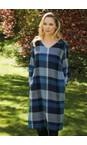 Adini Blue Multi Grace Woven Check Dress