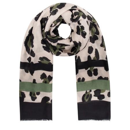 Gemini Label Accessories Jilin Leopard Print Scarf - Green