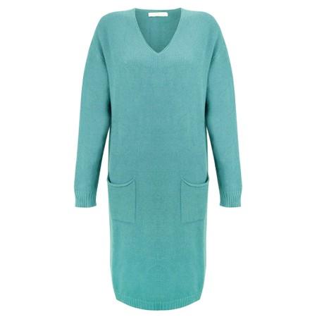 Amazing Woman Pollie V Neck Dress - Green