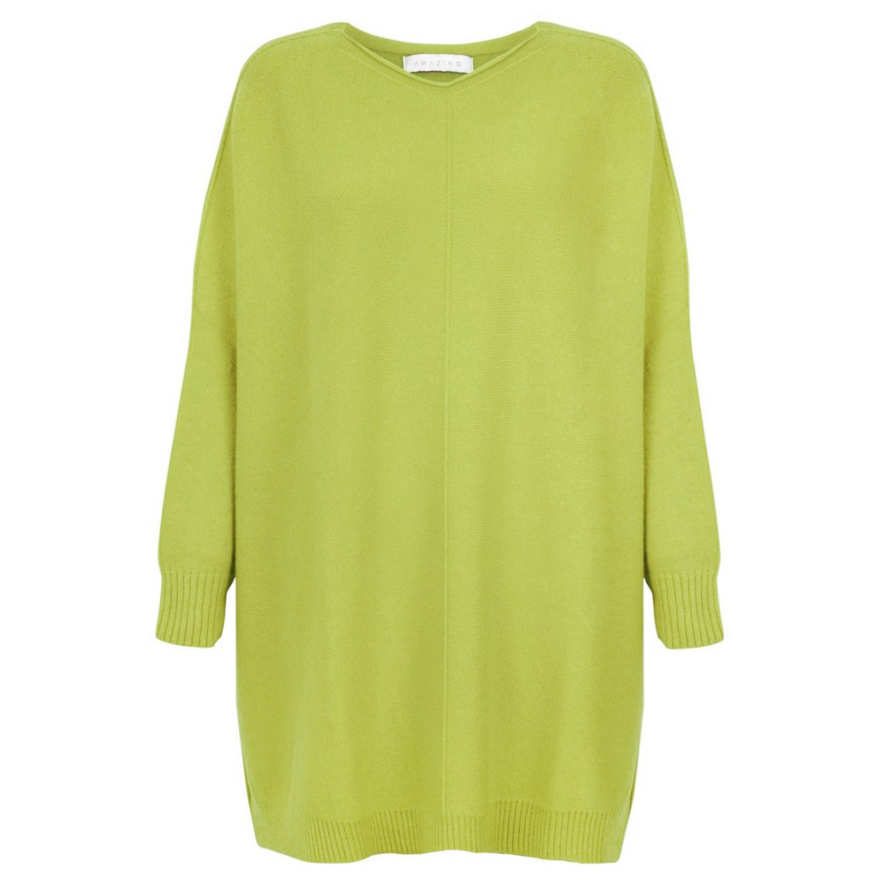 Amazing Woman Cassi X Round Neck Front Seam Knit Pear