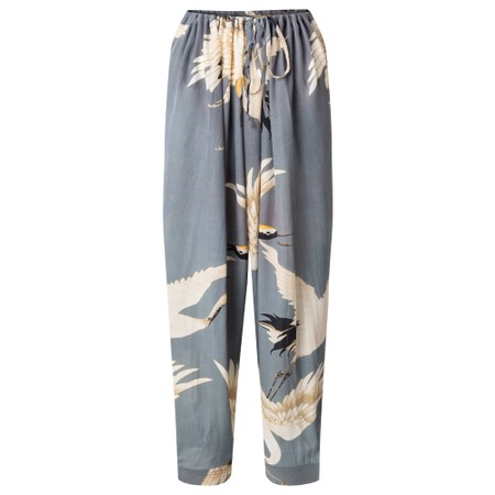 One Hundred Stars Stork Slate Crepe Lounge Pants - Grey