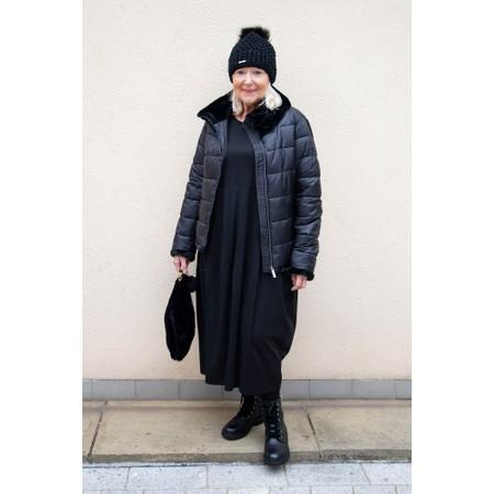 Frandsen Livvi Faux Fur Collar Short Jacket - Black