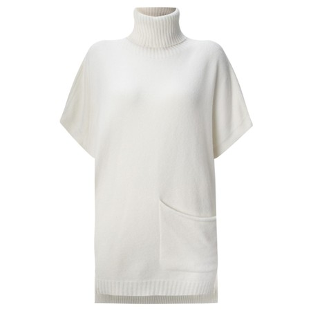 Amazing Woman Piper Roll Neck Poncho - Off-White
