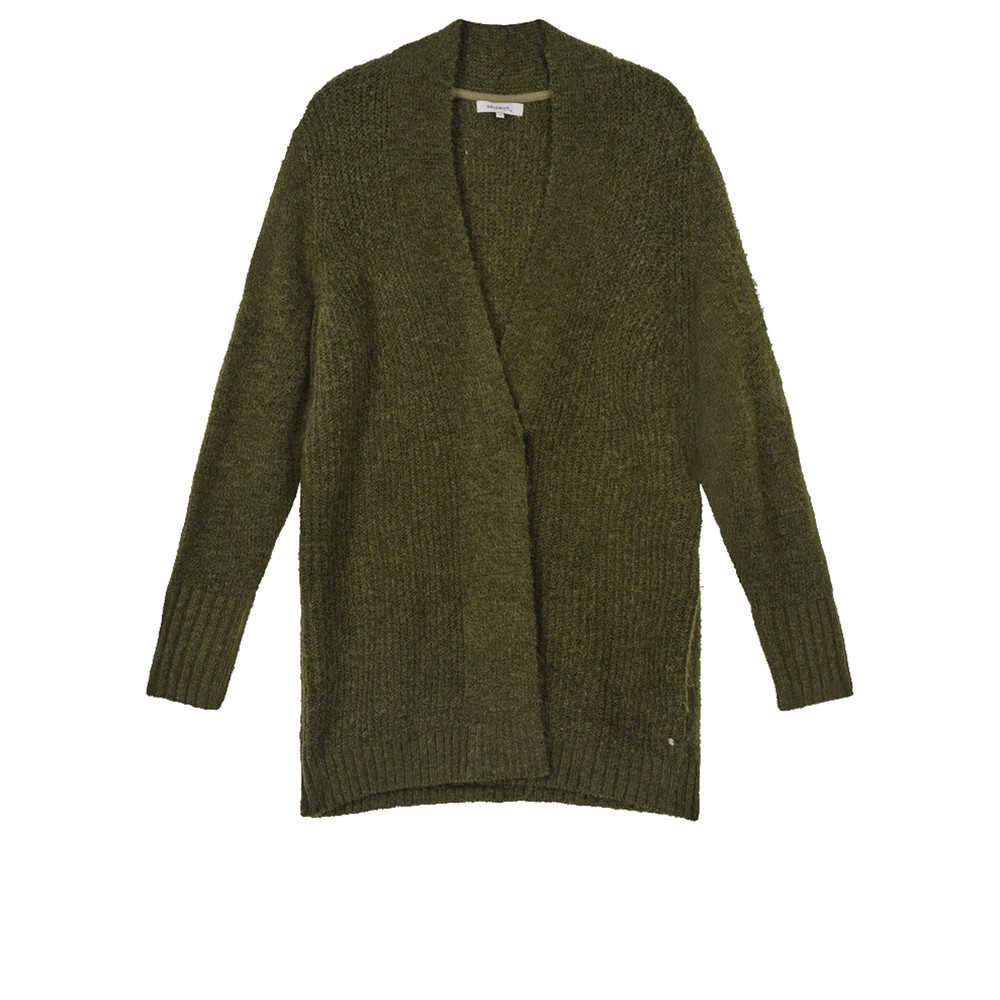 Sandwich Clothing Oversized Long Wool Blend Cardigan Military Olive