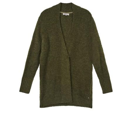 Sandwich Clothing Oversized Long Wool Blend Cardigan - Green